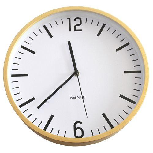 Walplus Wall Clock Hygge Time - Wood 25 cm