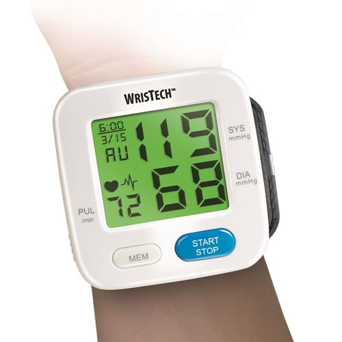 Colour Changing Blood Pressure Wrist Monitor