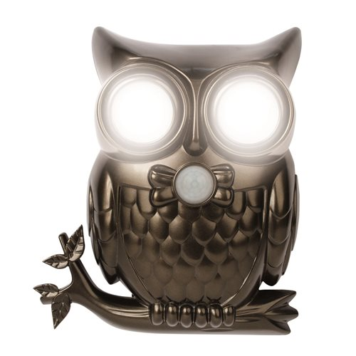 IdeaWorks Motion Sensor Light with Sound - Owl