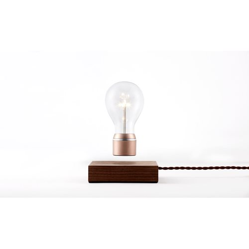 FLYTE Buckminster 2.1 Zwevende Tafellamp - Walnoot / Koper