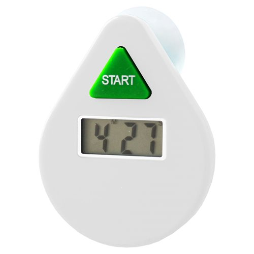 PowerPlus EcoSavers - Digital LCD Shower Timer with Alarm - Water Saving - 5 Minutes
