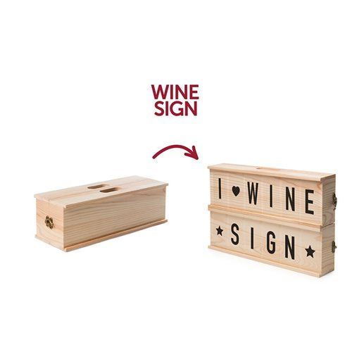 Rackpack Wine Sign - Wijn box en Letterbox