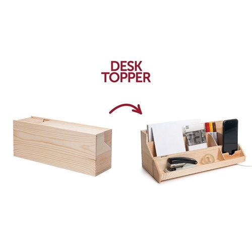 Rackpack Desk Topper - Wine box and Desk organizer