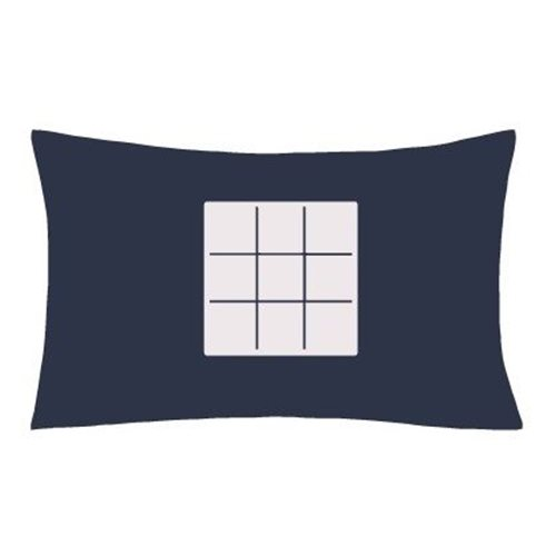 Glow Sketch Interactive Pillow Case - Noughts & Crosses