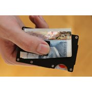 United Entertainment Card Holder with RFID Protection and Money Clip - Black