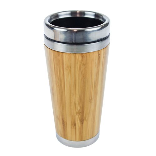 United Entertainment Bamboo Doppelwandiger Öko-Reisebecher - 450 ml