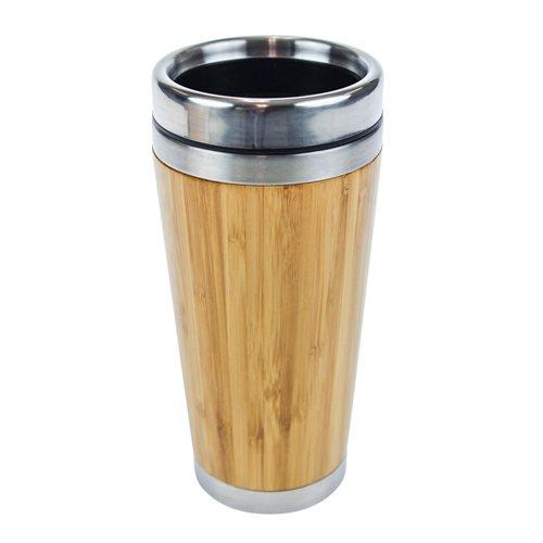 United Entertainment Bamboo Double Wall Eco Travel Mug - 450 ml