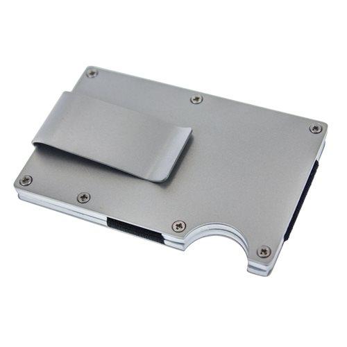 United Entertainment Kartenhalter mit RFID-Schutz und Geldscheinklammer - Silber