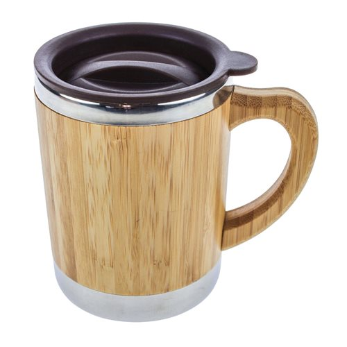 United Entertainment Bamboo Double Wall Eco Travel Mug - 280 ml