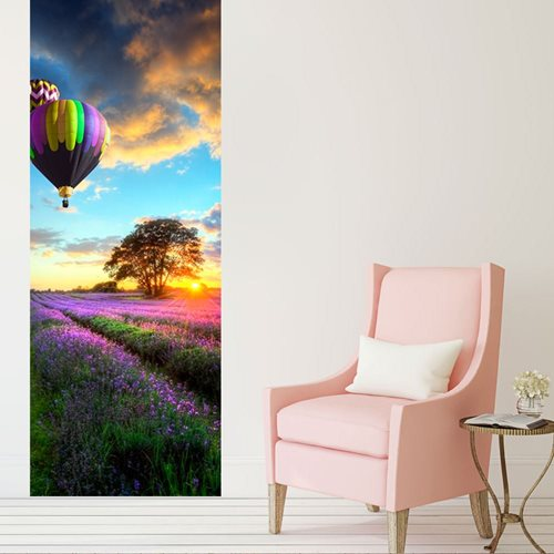 Walplus Door Decoration Sticker - Provence Lavender