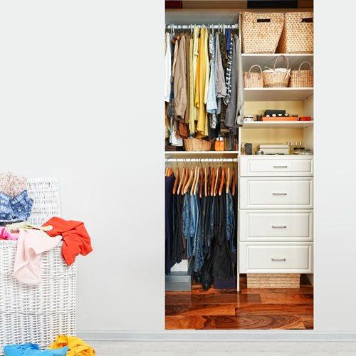 Walplus Tür Dekoration Aufkleber - Kleiderschrank