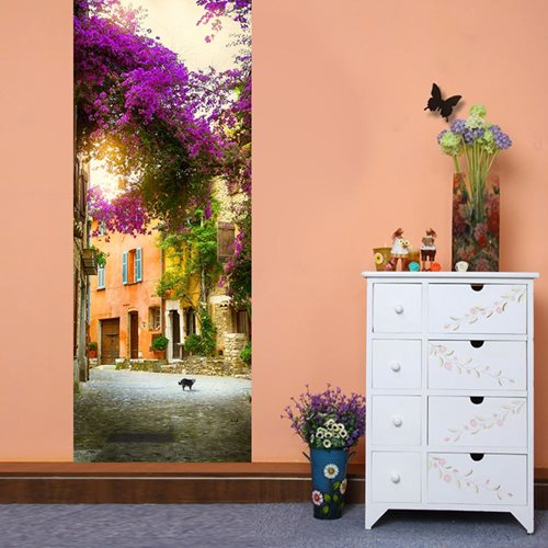Walplus Door Decoration Sticker - Spring Garden