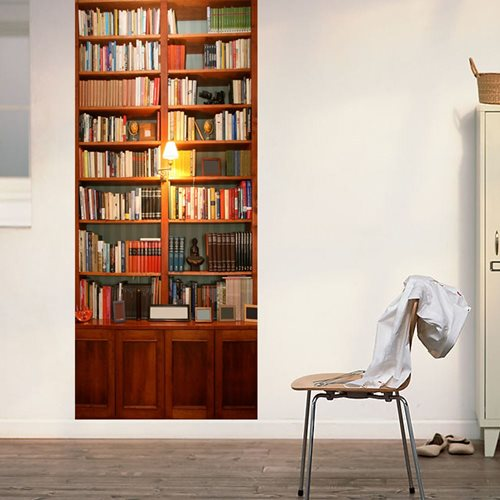 Walplus Tür Dekoration Aufkleber - Vintage Bücherregal
