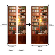 Walplus Door Decoration Sticker - Vintage Bookcase