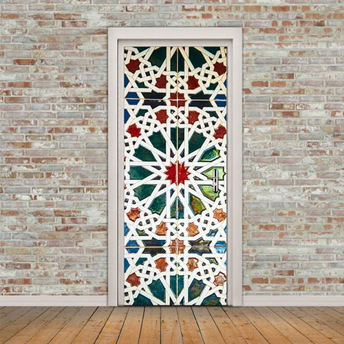 Walplus Door Decoration Sticker - 12 Pointed Star