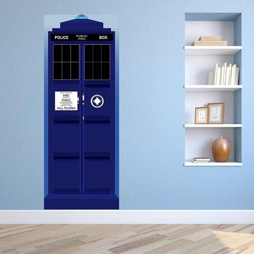 Walplus Tür Dekoration Aufkleber - Britische Polizei Box