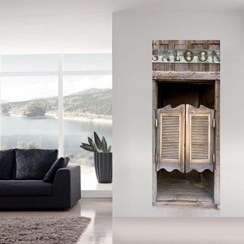 Walplus Tür Dekoration Aufkleber - Saloon Türen