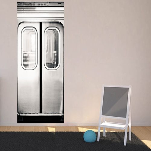 Walplus Door Decoration Sticker - Tram Doors