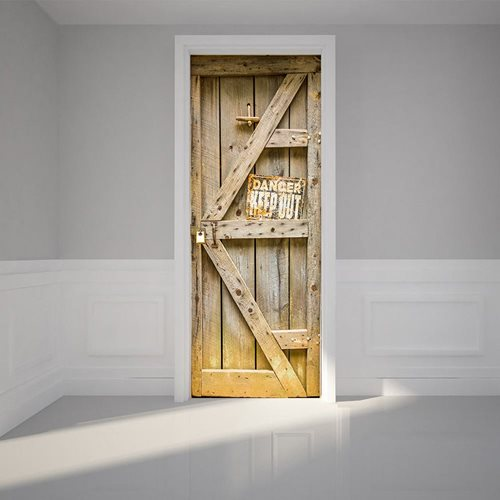 Walplus Door Decoration Sticker - Timber Door