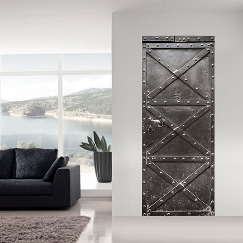Walplus Door Decoration Sticker - Metal Safe Door