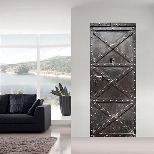 Walplus Door Decoration Sticker - Metal Safe Door