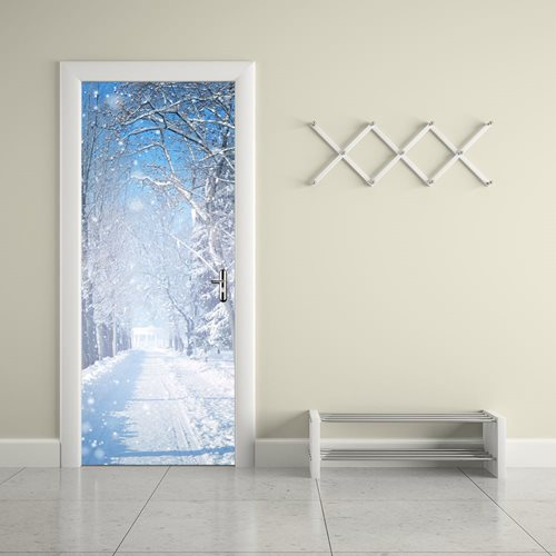 Walplus Door Decoration Sticker - Winter Snow