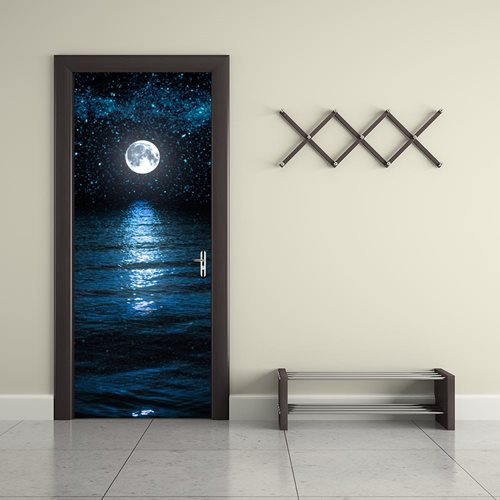 Walplus Door Decoration Sticker - Moon and Stars