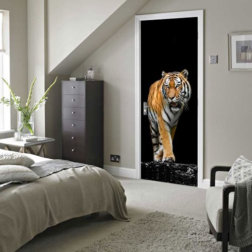 Walplus Door Decoration Sticker - Tiger