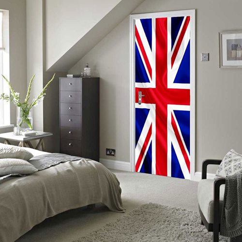Walplus Door Decoration Sticker - Union Jack