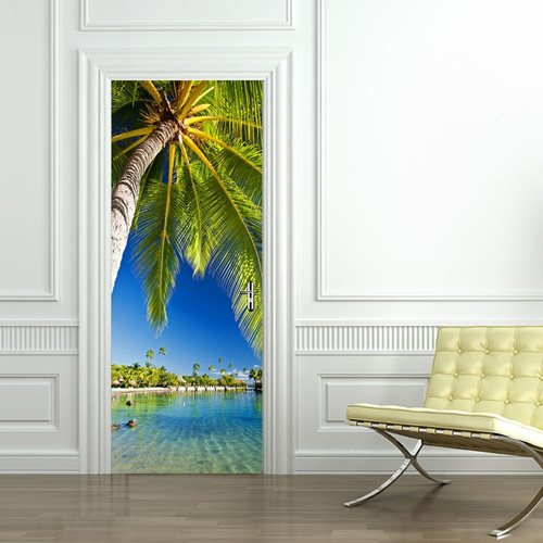 Walplus Door Decoration Sticker - Tropical Island