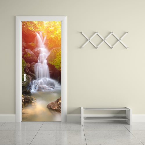 Walplus Door Decoration Sticker - Waterfall