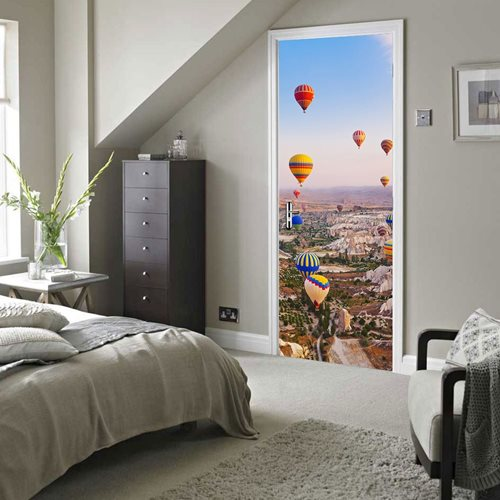 Walplus Door Decoration Sticker - Hot Air Balloons