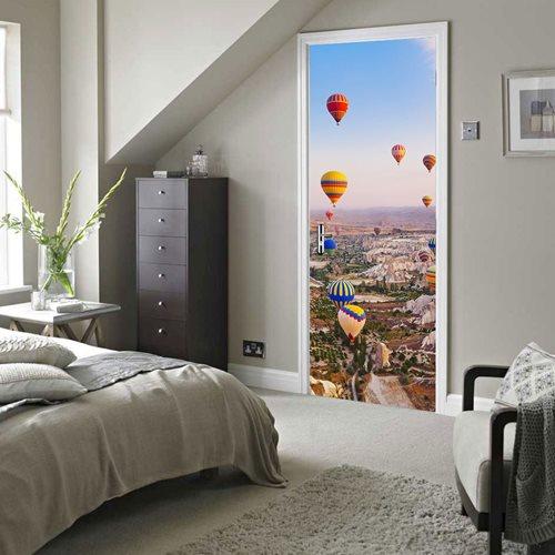 Walplus Tür Dekoration Aufkleber - Heißluftballons