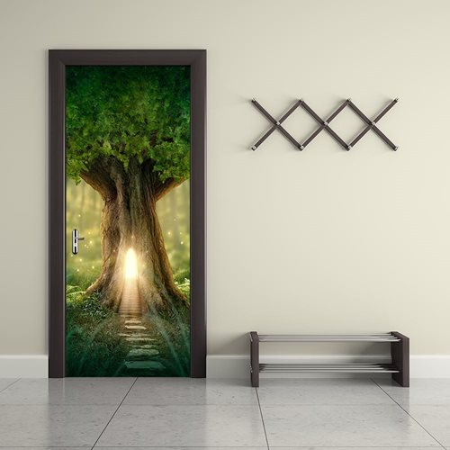 Walplus Door Decoration Sticker - Fantasy Tree