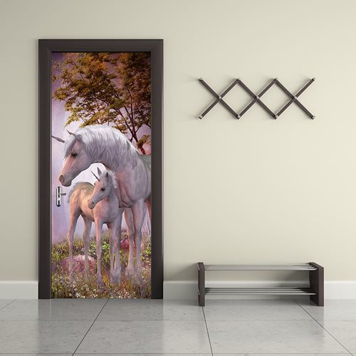 Walplus Door Decoration Sticker - Unicorn