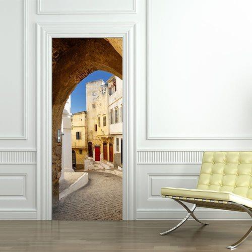 Walplus Tür Dekoration Aufkleber - Straßen von Tanger