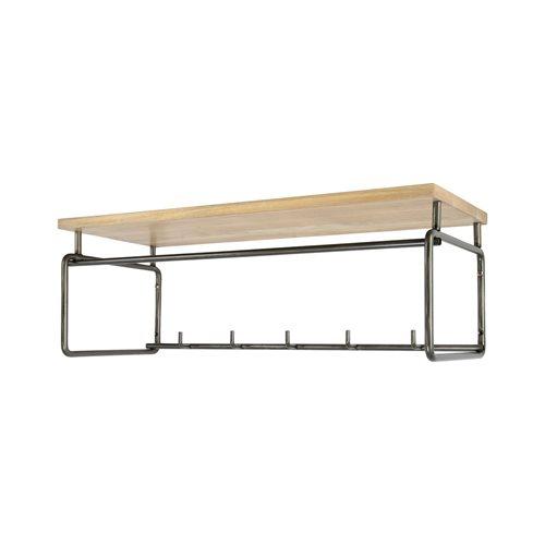 Spinder Design Clint 3 Kapstok met Hoedenplank - Blacksmith/Eiken