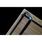 Spinder Design Clint 3 Coat Rack with Shelf - Black/Oak