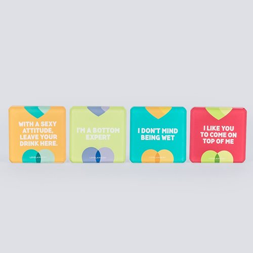 Lovelanders Home Glass Coasters set 2