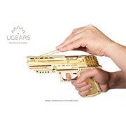 Ugears Wooden Model Kit - Wolf-01 Rubber Band Hand Gun