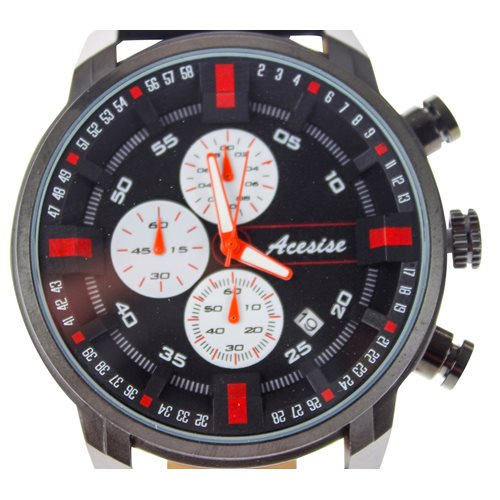 United Entertainment Sport Watch - Waterproof - with Calendar - Black/Red