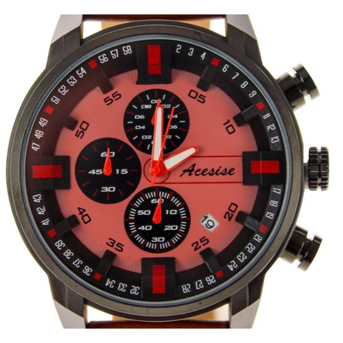 United Entertainment Sport Watch - Waterproof - with Calendar - Brown/Red