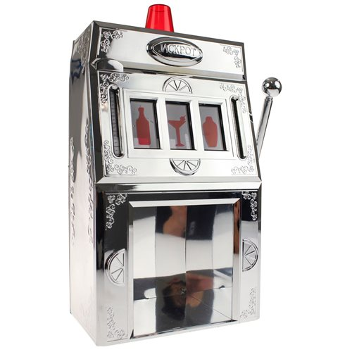 United Entertainment Liquor Dispenser - Jackpot Slot Machine - Silver