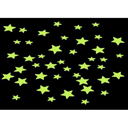 United Entertainment - Dekoration Wandaufkleber - Nachtleuchtende Sterne - 200 Stück