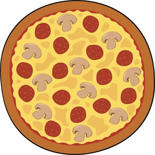Giggle Beaver Pizza - Thee- en keukendoek - 55x55 cm