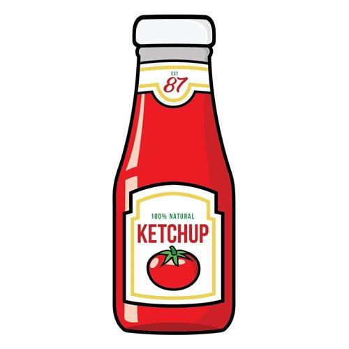 Giggle Beaver Ketchup - Thee- en keukendoek - 65x30 cm