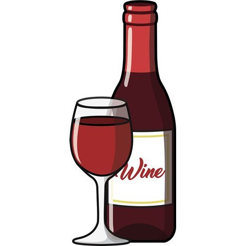 Giggle Beaver Red Wine - Tea Towel