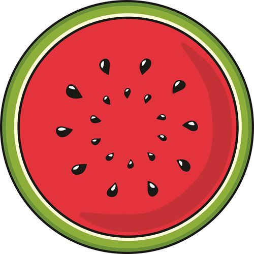 Giggle Beaver Watermelon - Tea Towel