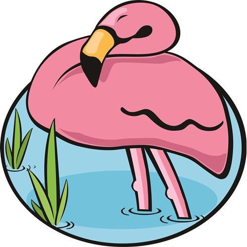 Giggle Beaver Flamingo - Badetuch