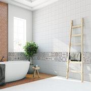 Walplus Spanish Limestone - Wall Sticker/Tile Sticker - 10x10 cm - 24 pieces